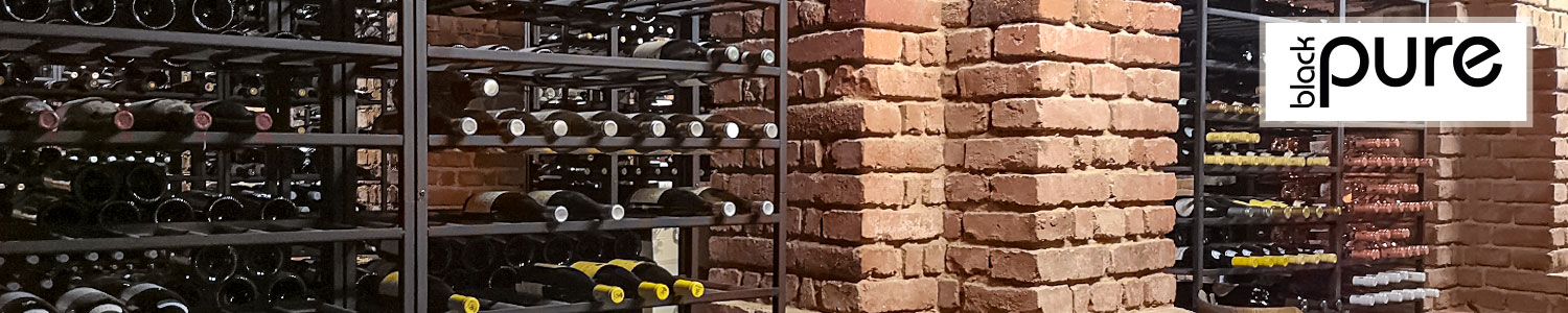 BLACK PURE - Metal wine racks