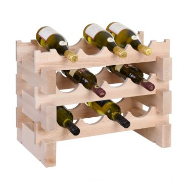 Wine rack CASANOVA, W 55 cm, natural