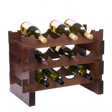 Wine rack CASANOVA, W 55 cm, walnut