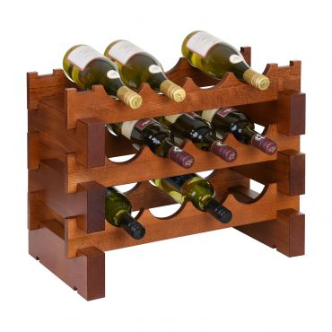 Wine rack CASANOVA, W 55 cm, cherry