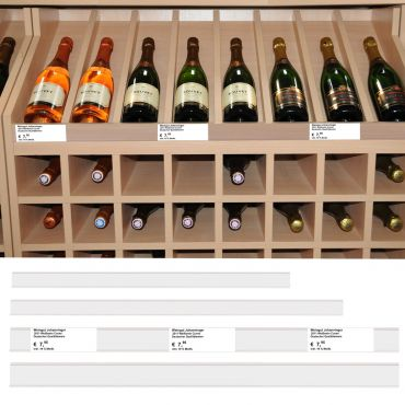 Wine rack label system