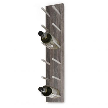 Wall wine rack ESTABA, holds 6 bottles, wenge