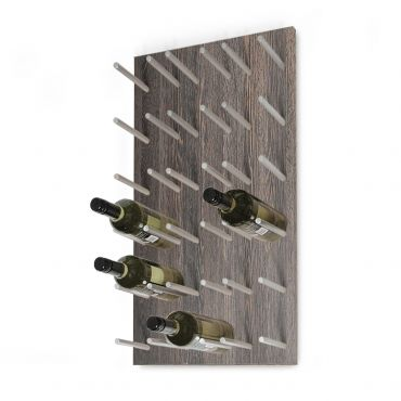 Wall wine rack ESTABA, holds 18 bottles, wenge