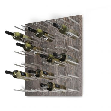 Wall wine rack ESTABA, holds 30 bottles, wenge