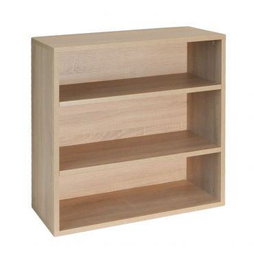 Rack module with 2 shelves, 33 cm depth, light oak