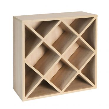 Rack module, diamond shaped insert, light oak
