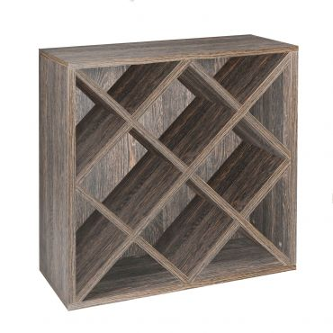 Rack module, diamond shaped insert, wenge