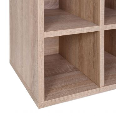 Rack module, 9 compartments, light oak