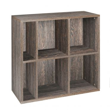 Rack module, 6 compartments, wenge