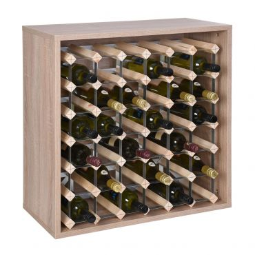 Rack module, holds 36 bottles, light oak
