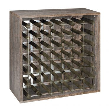 Rack module, holds 36 bottles, wenge