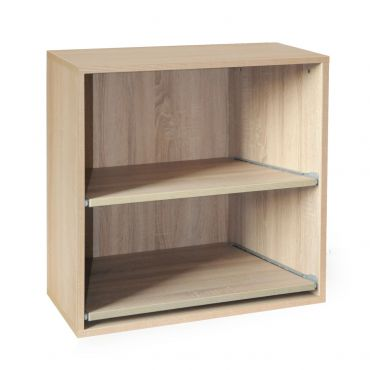 Rack module, removable shelves,light oak, D 33 cm