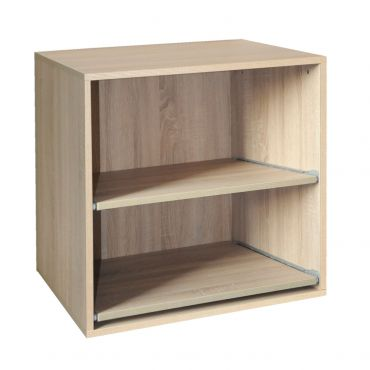 Rack module, removable shelves,light oak, D 55 cm