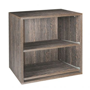 Rack module, 2 removable shelves, wenge, depth 55 cm