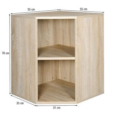 Corner module, light oak