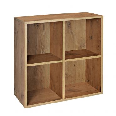 Rack module, 4 compartments, country oak