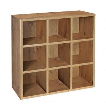Rack module, 9 compartments, country oak
