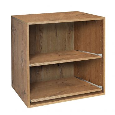 Module D 55 cm with 2 sliding shelves, country oak