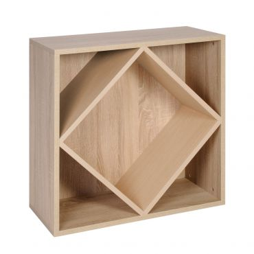 Module with large diamond inserts, light oak