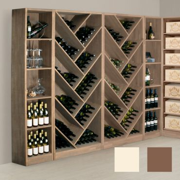 Wine rack PRESTIGE 11.1 and 11.2 made of solid oak