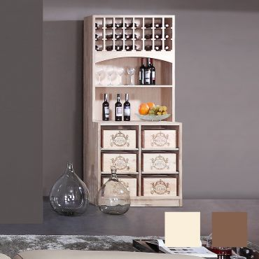 Wine rack PRESTIGE 6 made of solid oak