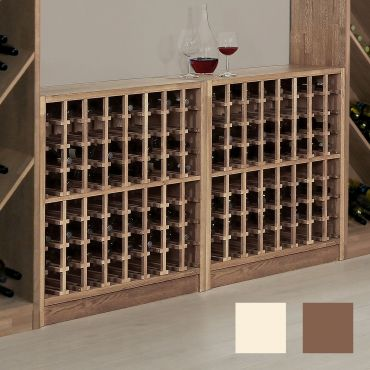Wine rack PRESTIGE 1 made of solid oak