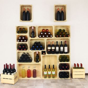 Wine box DOLCETTO made of pine wood