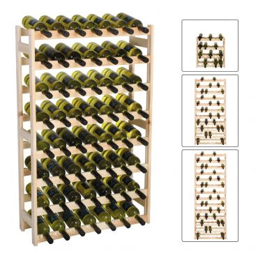 Wooden wine racks SIMPLEX, untreated