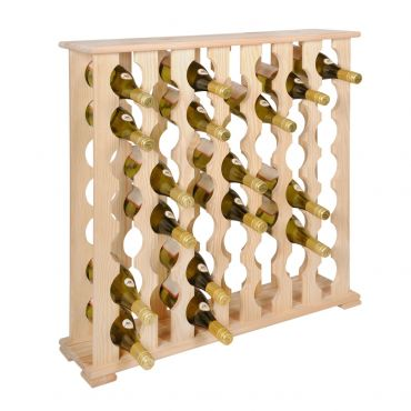 Wine rack DONNA BLANCA pine wood, for 46 bottles