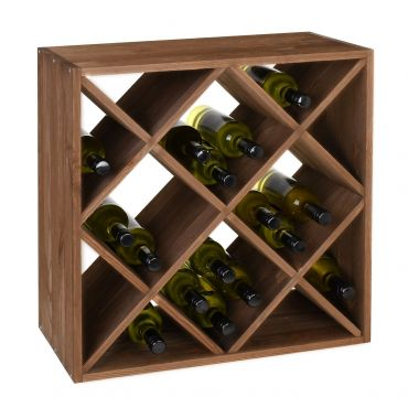 Weine rack 60 cm, module with diamond shaped inserts, brown