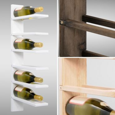 Wall wine rack PINOT made of pine wood