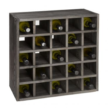 Wine rack 52 cm, module grid, brown stained