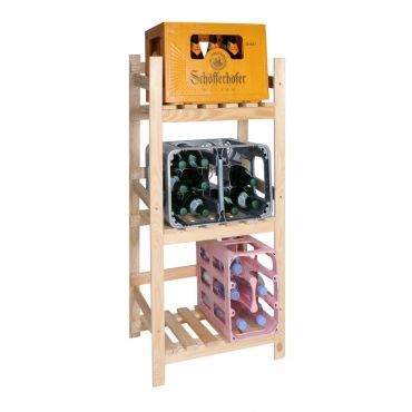 Shelf for beverage crates