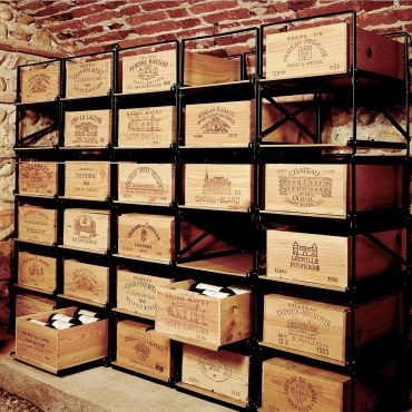Metal wine case storage system MODULORACK