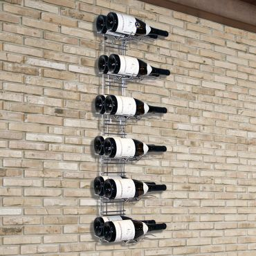Wall wine rack VisioRack® made of metal, for Magnum