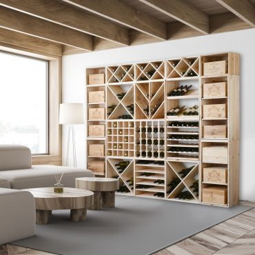 Wooden wine rack QUADRI