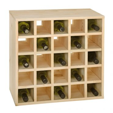 CUBE 52 wine rack system, untreated, module grid