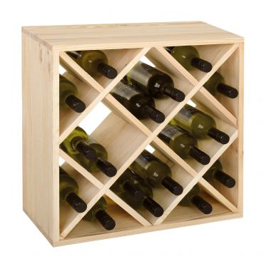 Cube 52 wine rack system, untreated, module diamond