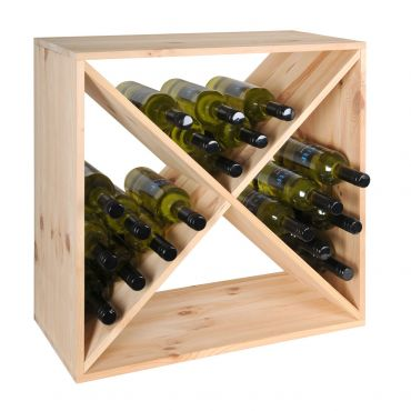 "Wine rack ""X-CUBE"", natural wood"