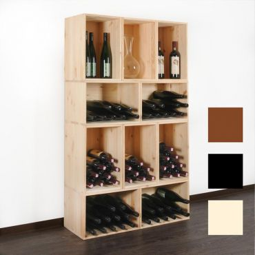 Wine storage box VENETO in natural wood & wenge
