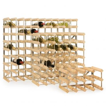 Wooden wine rack system TREND, natural, D 22,8 cm