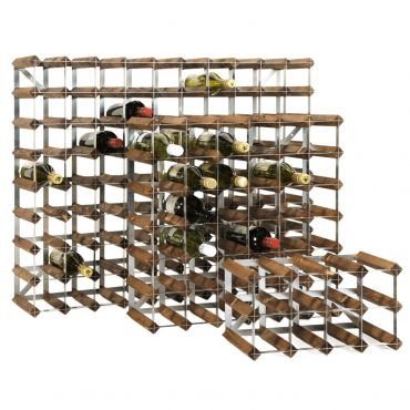 Wooden wine rack system TREND, brown, D 22,8 cm