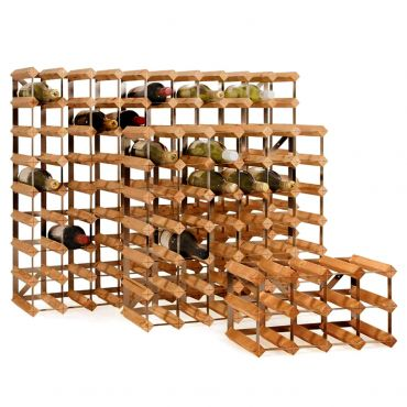 Wooden wine rack system TREND, light brown, D 22,8 cm