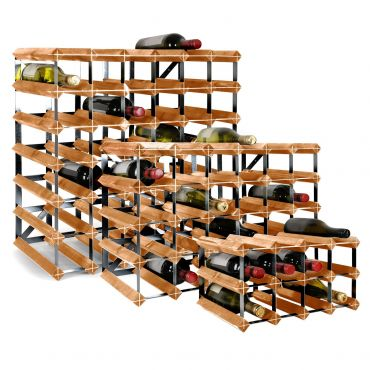 Wooden wine rack system TREND, light brown, D 30 cm