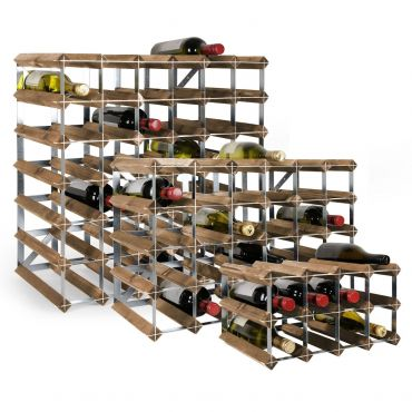 Wooden wine rack system TREND, dark brown, D 30 cm