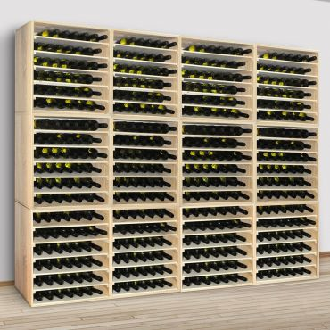 Wine rack LINEA made of pine wood
