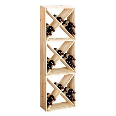 Wine racking system 60 cm, set of 3 modules X-CUBE,