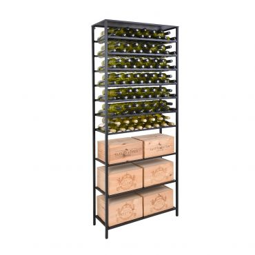 Wine rack BLACK PURE, 2 parts, 3 shelves
