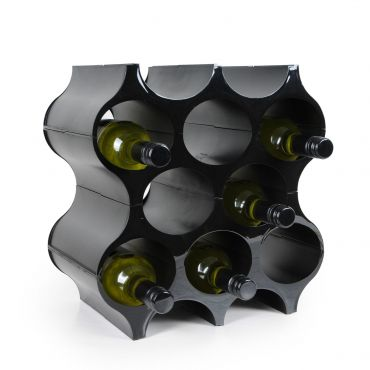 Wine rack system SET-UP, synthetic material in black