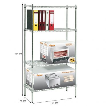 Shelving system ORDINE, ideal for box storage, 184 cm height